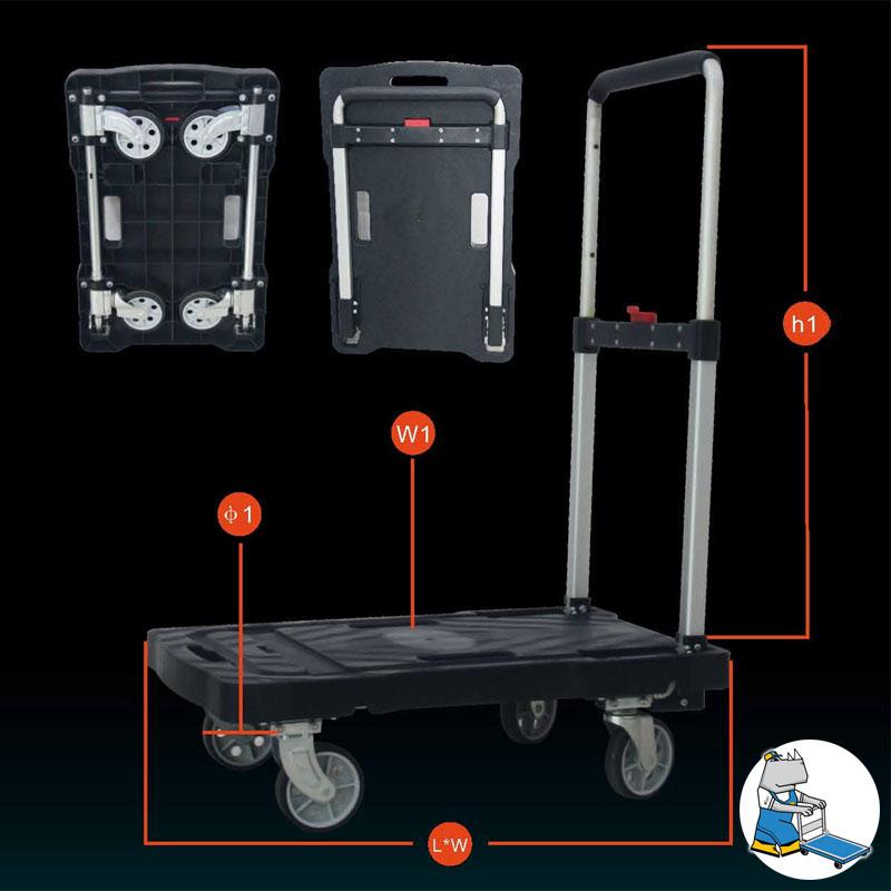 Plastic Foldable Trolley 150kg