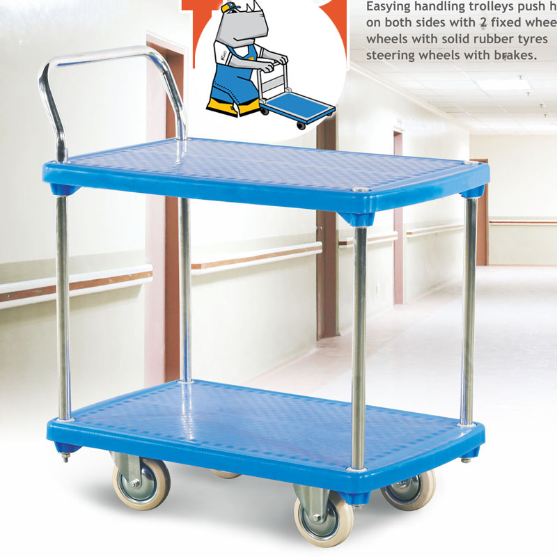 Plastic Trolley (Double Layer) 200kg